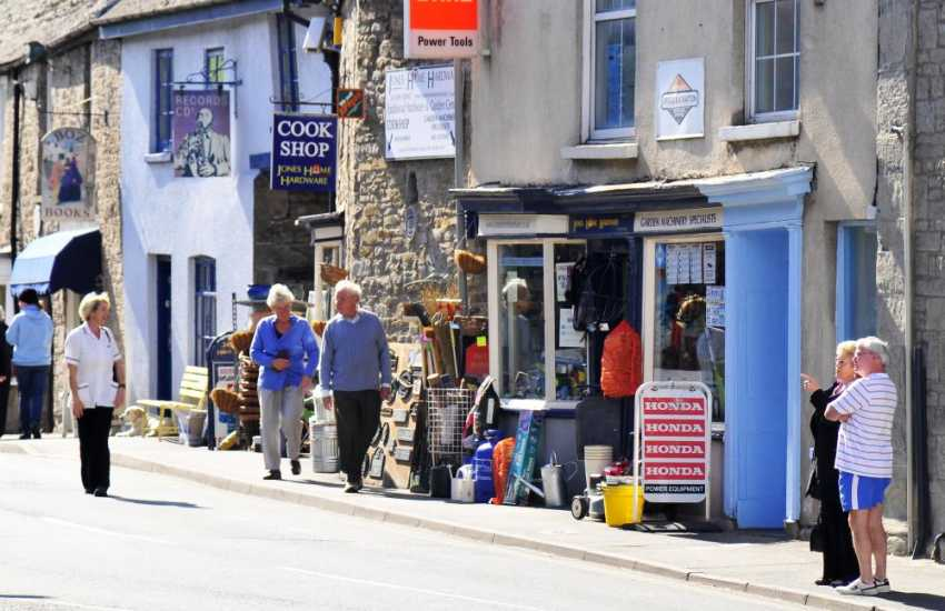 The Butter Market in Hay on Wye town centre reached via a breathtaking 5 mile scenic drive