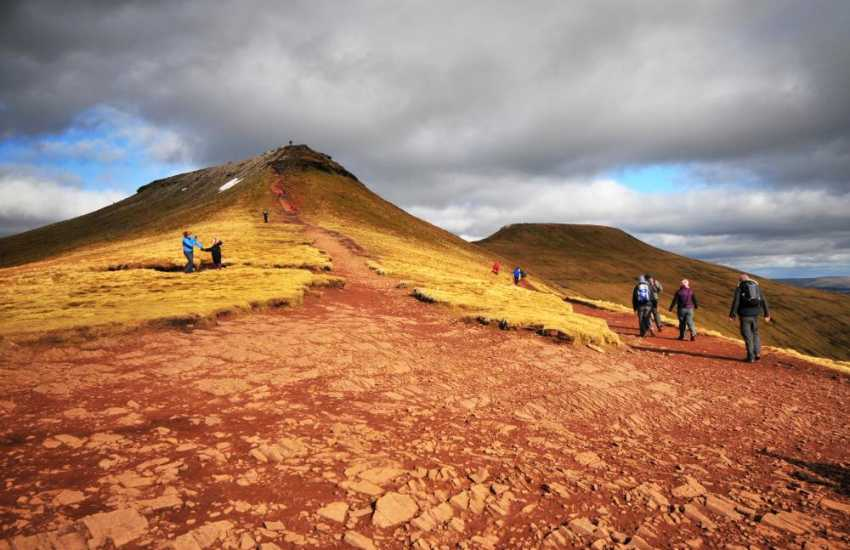 Roam the Black mountains and Brecon Beacons.
