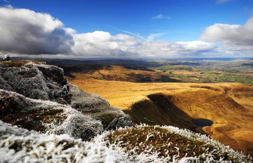Pen y Fan in the Brecon Beacons, stunning scenery and fresh mountain air anytime of the year.
