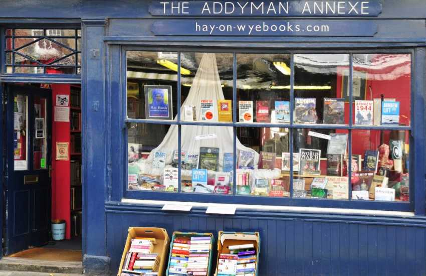 Hay on Wye is famous for its books - so much so that it hosts the annual 'Hay Festival of Literature and the Arts'.