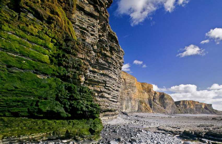 The soaring cliffs of the Glamorgan Heritage Coast - truly breathtaking!