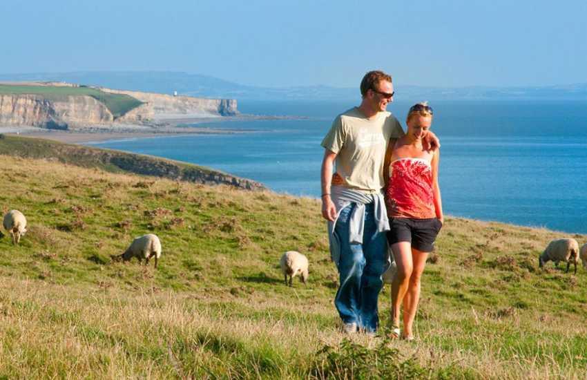 Fabulous cliff-top walking along the Glamorgan Heritage Coast at Southerndown.