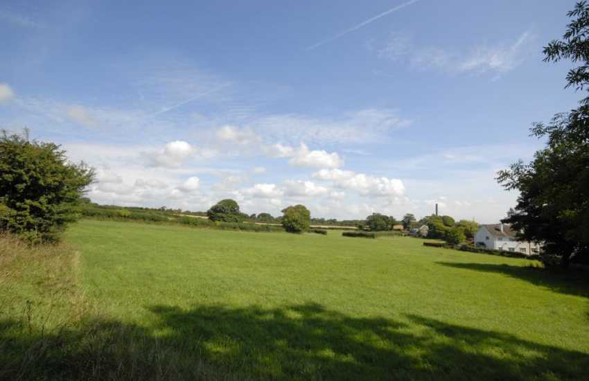 Enjoy breathtaking views from the apartment over the surrounding countryside