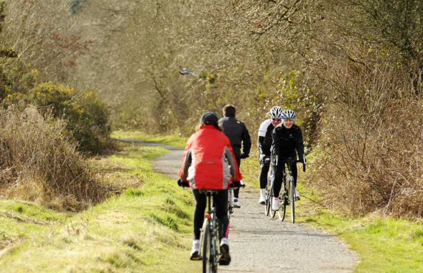 Cycling in Porthkerry Country Park near Barry - 220 acres of woods, meadowland, nature trails, picnic sites, cafe and mini golf