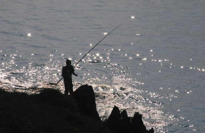 The Jurassic Coast is popular for sea bass fishing