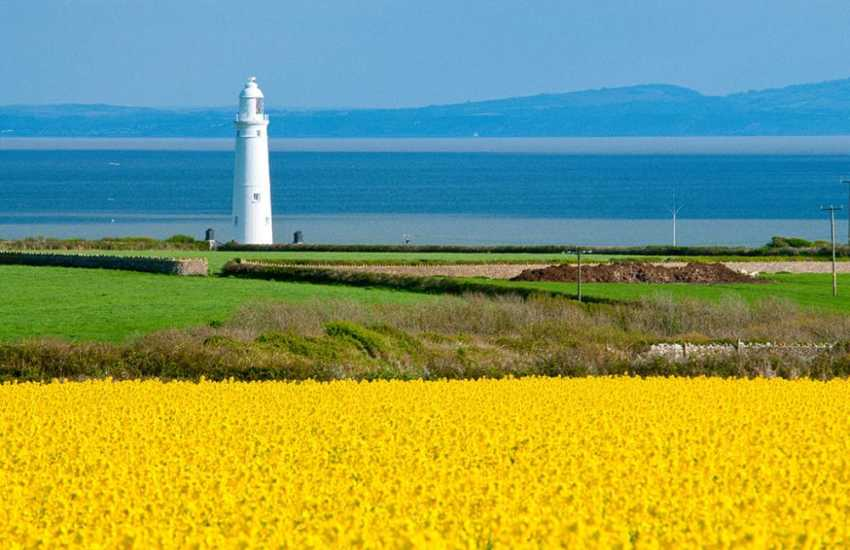 Nash Point Lighthouse - owned by Trinity House, has a visitor centre and guided tours run throughout the summer months.
