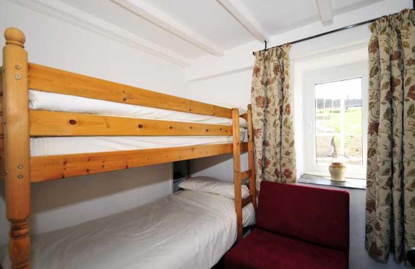 Bedroom on ground floor with bunk beds