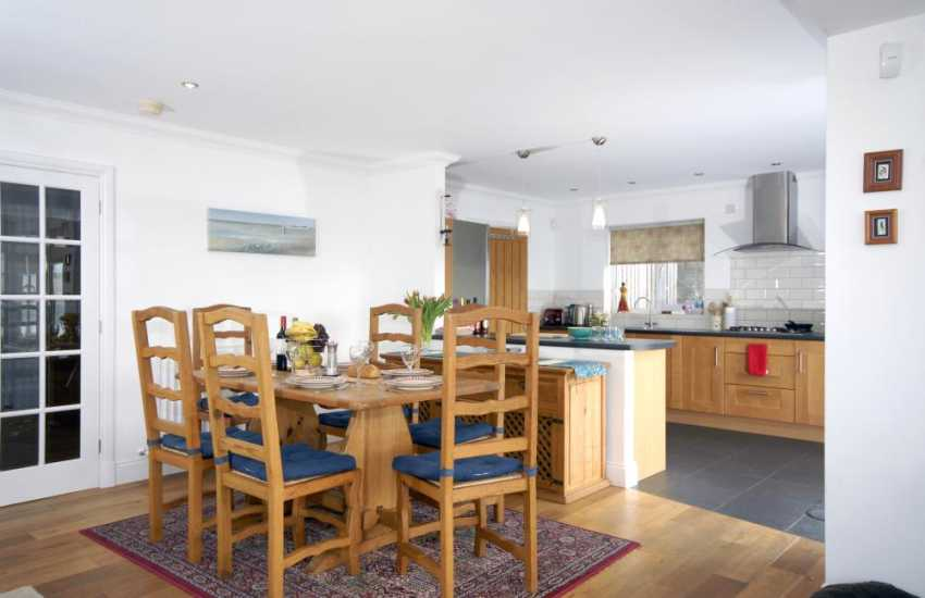 Poppit Sands home for holidays with spacious open plan living
