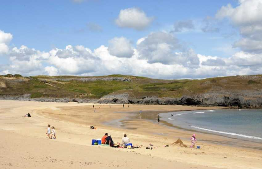 Broad Haven South (N.T) - a beautiful wide sandy bay backed by dunes