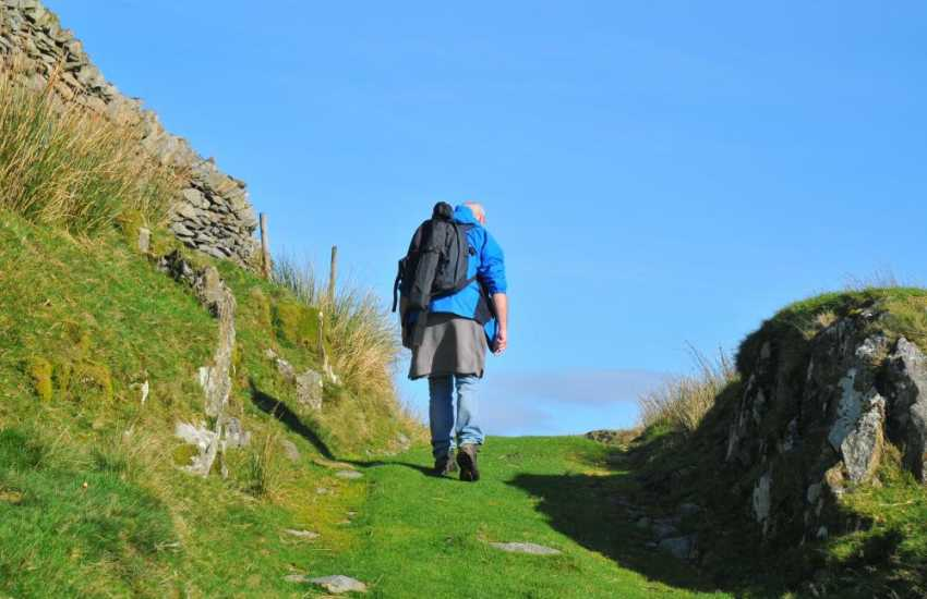 Walking the Ardudwy Way in the hills above Harlech