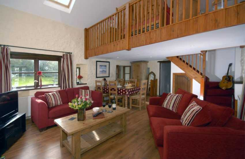 North Pembrokeshire self catering cottage - open plan living space