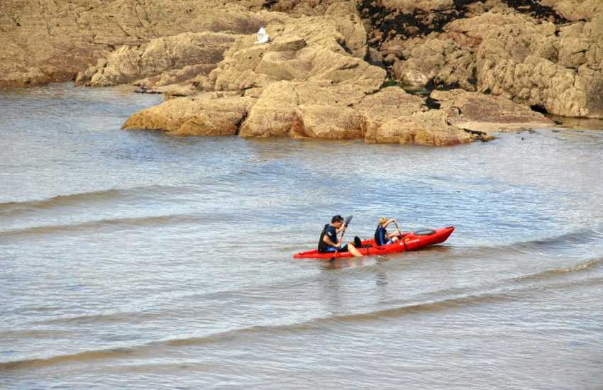 Mike Mayberry Kayaking and Fishguard Harbour Water Sports Centre in Goodwick have a wide variety of water sports available to try