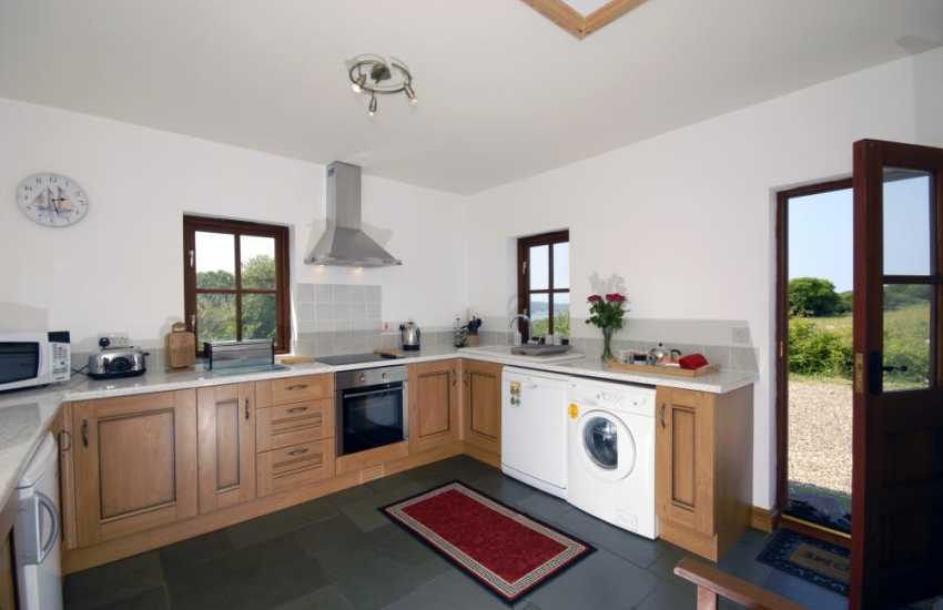 Self-catering holiday cottage near Newport - modern fitted kitchen