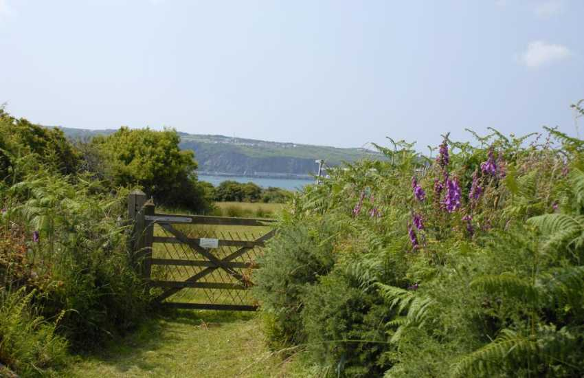 Walk through the gate from the gardens down to the Pembrokeshire Coastal Path
