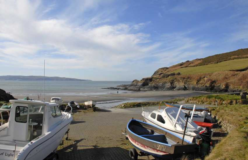 Enjoy a 7 mile walk from Pwllgwaelog, a sheltered smugglers cove with very good pub overlooking the beach, to Newport