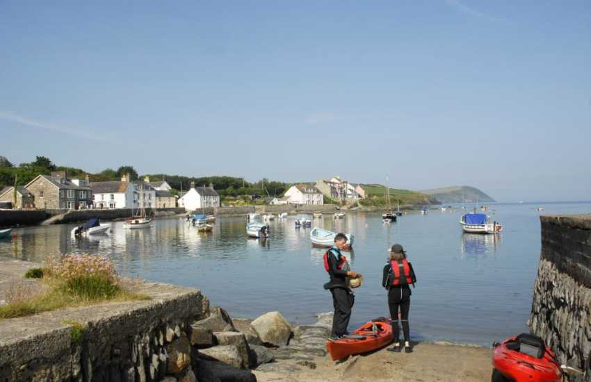 Newport Sailing Club offers kayak hire - while away an hour or two out on the water