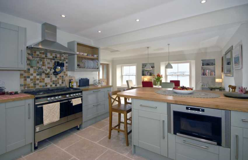 Pembrokeshire self-catering waterside holiday home - luxury modern fitted kitchen