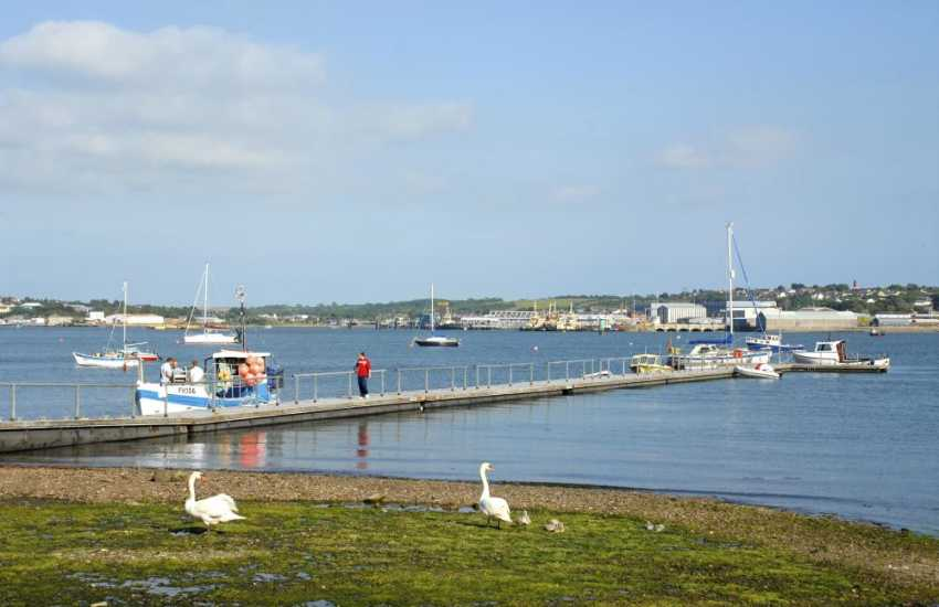 Hazelbeach foreshore - fabulous views over the river and a birdwatchers delight