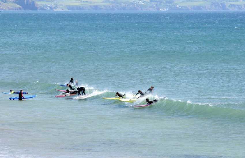 Newgale and Broad Haven beaches are great for catching the waves