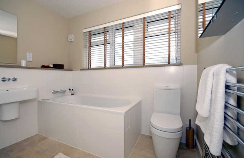 Little Haven Holiday home - family bathroom with large shower cubicle
