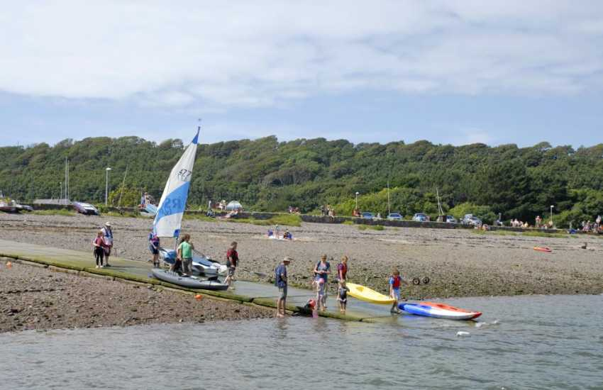 Dale - a water sports Mecca. Tuition and rentals are available from West Wales Wind, Surf and Sailing in the village