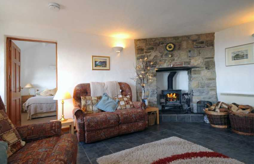 Cottage in Snowdonia - log burner in lounge