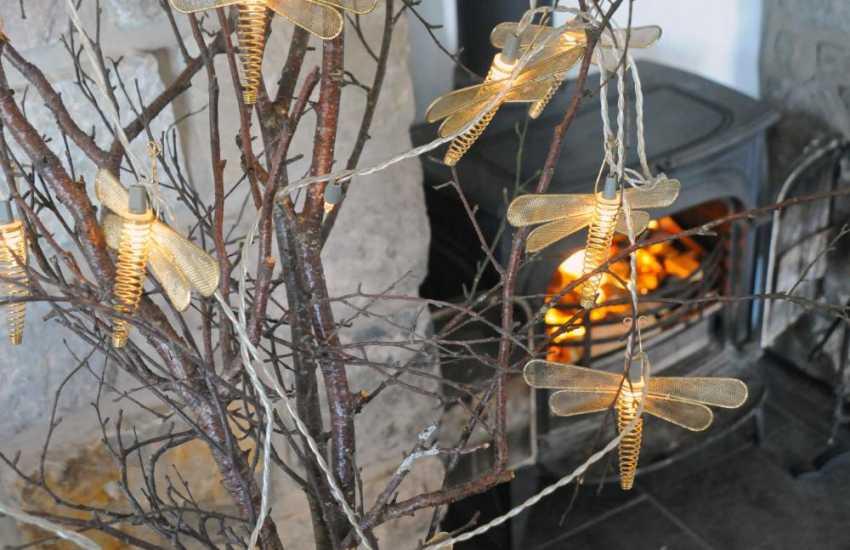 North Wales holiday cottage - log burner