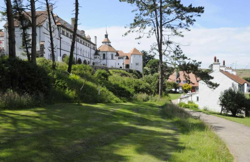 Do take the short boat trip from Tenby Harbour across to Caldey Island with its Cistercian Monastery which overlooks  the village green