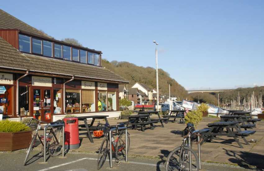Enjoy refreshments at Brunel's Cafe with a terrace for al-fresco dining overlooking Neyland Marina