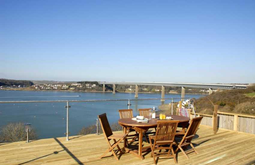 Views from the deck to the East where the Haven becomes the Cleddau River