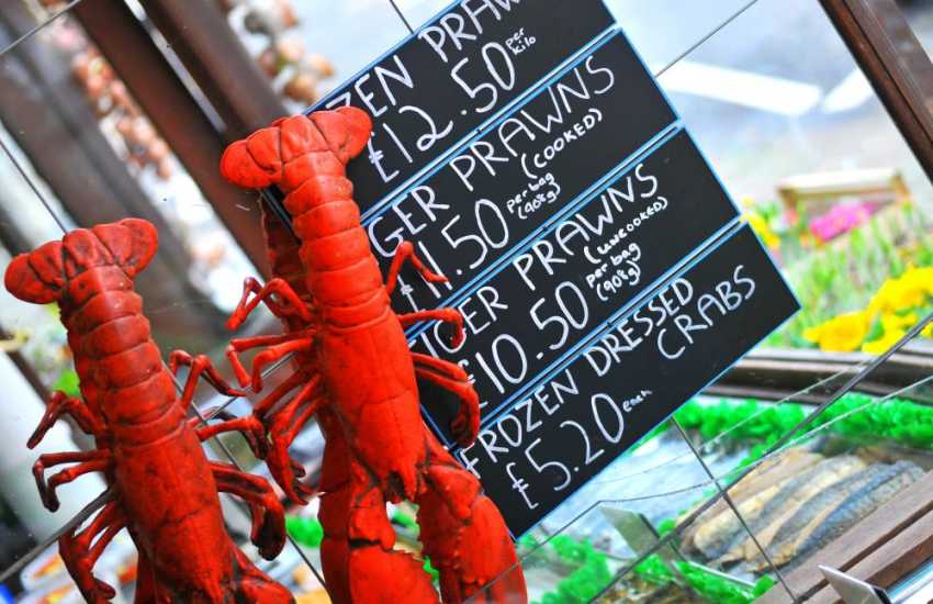Visit Criccieth and Porthmadog for delicious seafood in selected high street shops