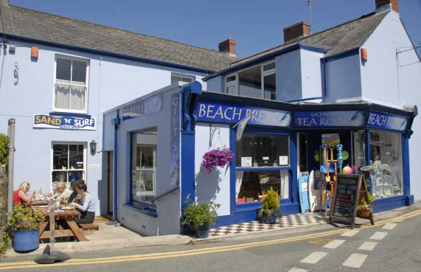 Beach Break Cafe in the village serve delicious home cooked treats and lots of different flavoured ice creams