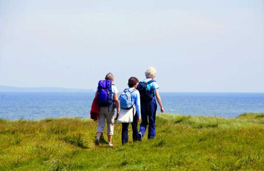 Enjoy fabulous fresh sea air and cliff top walks along the Pembrokeshire Coast Path nearby.