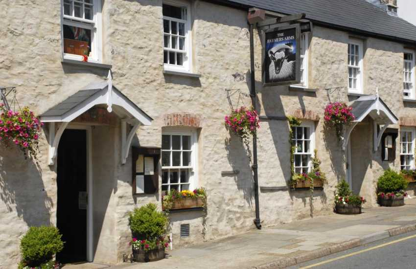 Try The Farmers Arms, St Davids - an old fashioned pub serving Welsh real ales and plentiful bar food