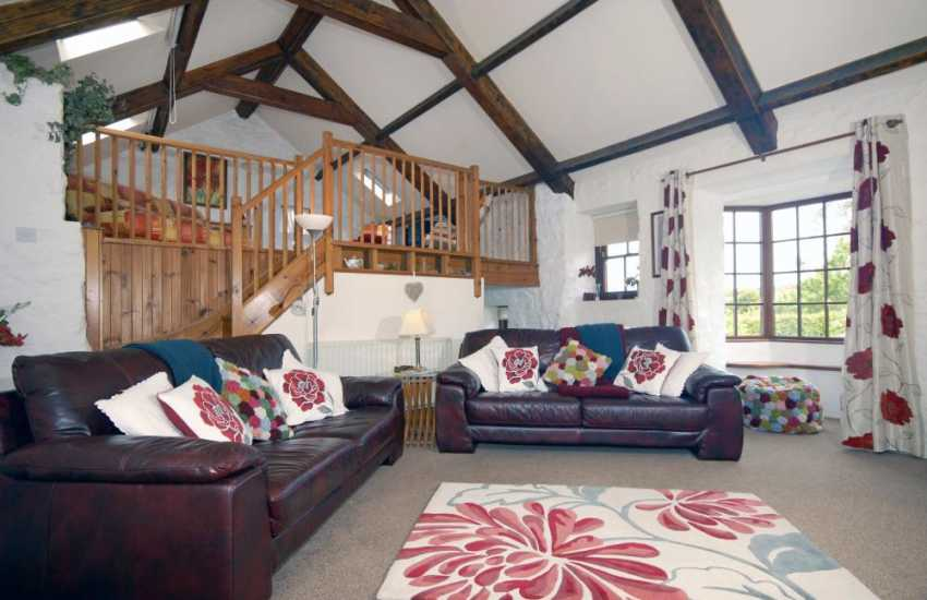 North Pembrokeshire holiday home - sitting room with wood-burning stove, Freeview digital tv/dvd