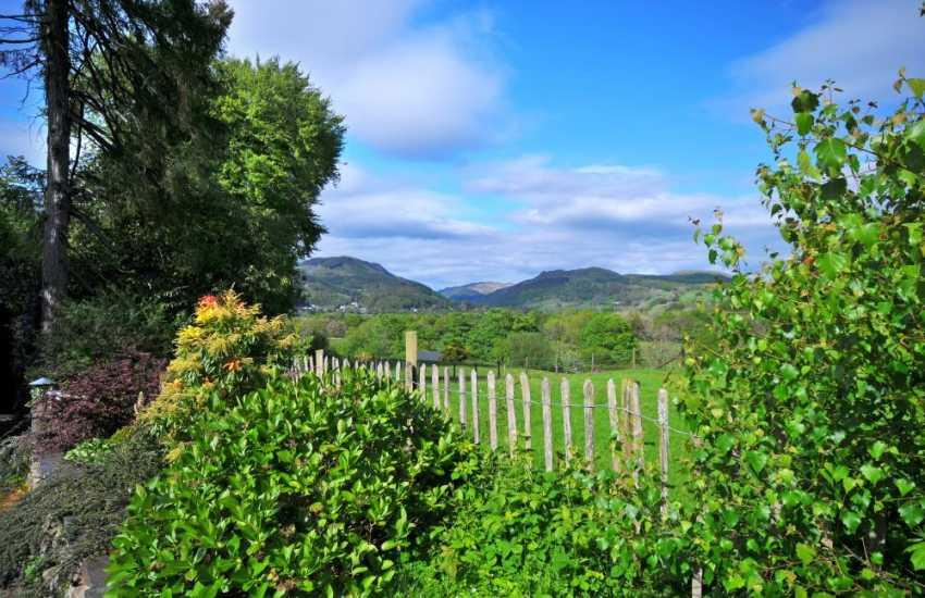Snowdonia views from Gotras - garden