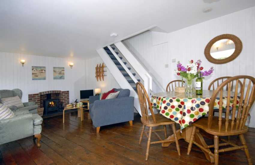 St Davids holiday cottage - living/dining room