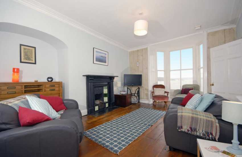 Grade II listed Tenby town house - first floor lounge with sea views
