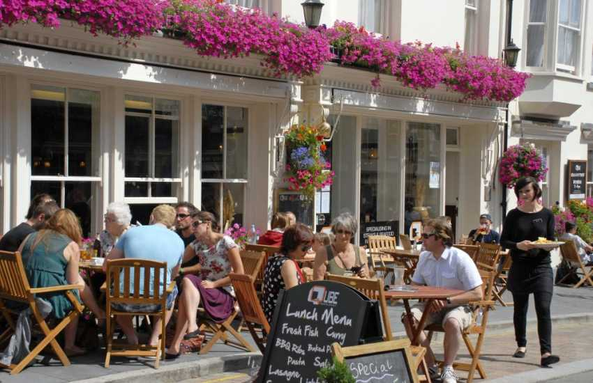 Tenby has a wide variety of coffee houses, pubs and restaurants
