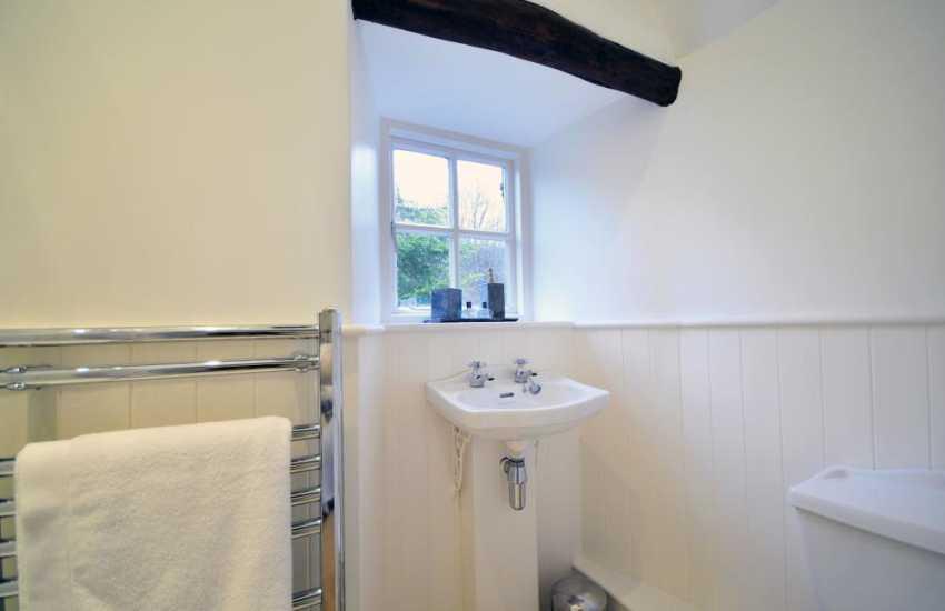 En-suite bathroom off twin bedroom