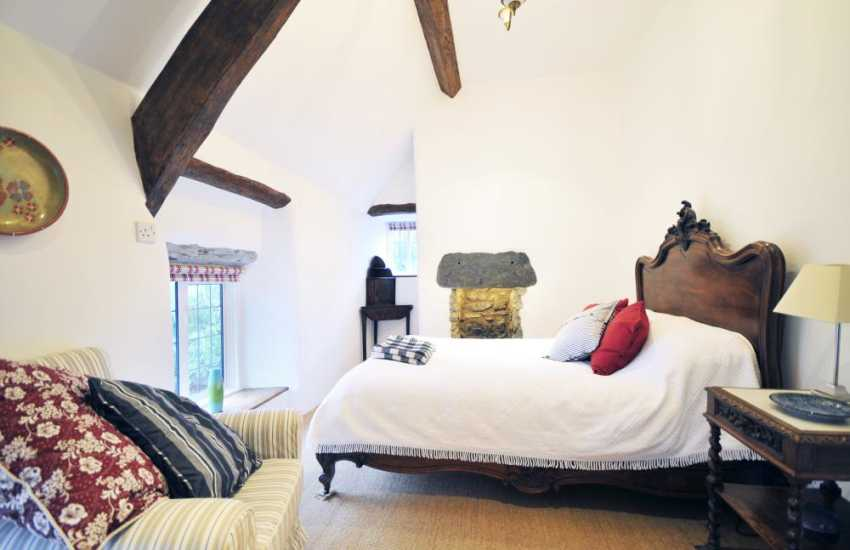 French style bedroom in Bala holiday cottage