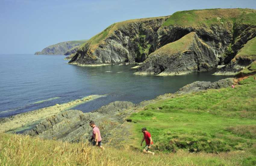 Fabulous cliff top walks to be enjoyed along the Pembrokeshire Coast Path and Cardigan Bay Heritage Coastline