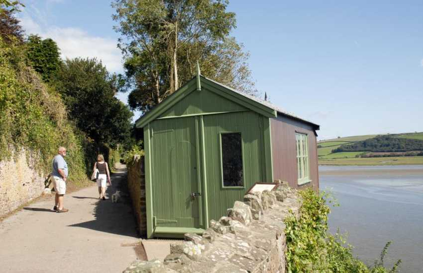 Dylan Thomas wrote much of his work in the Writing Shed looking out over the water