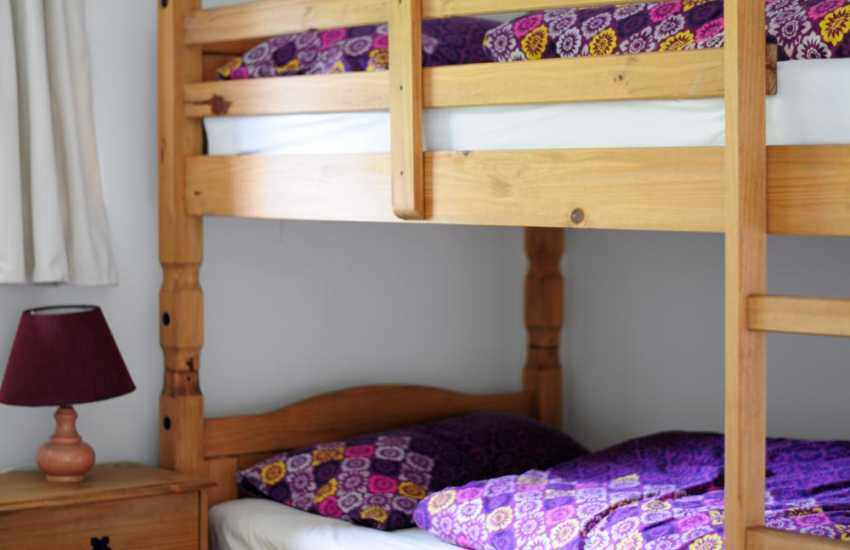 Holiday cottage Harlech sands - bunk beds  (to get to this bedroom you have to walk through bedroom A )