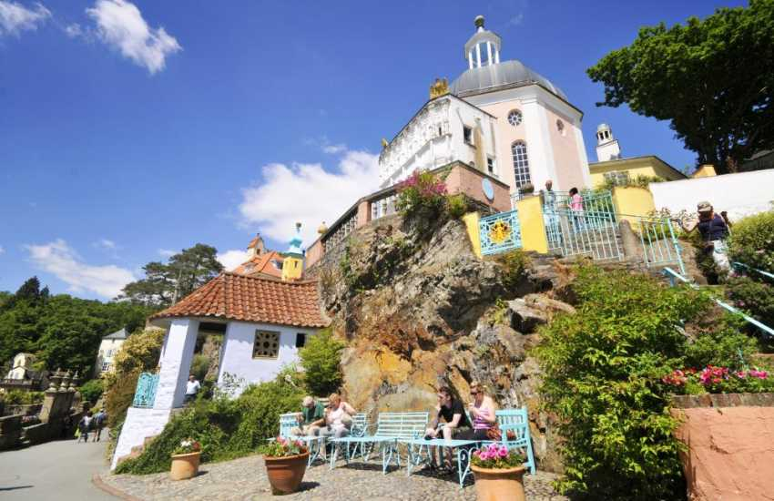 Do visit Portmeirion, a picturesque Italianate village, for a great day out