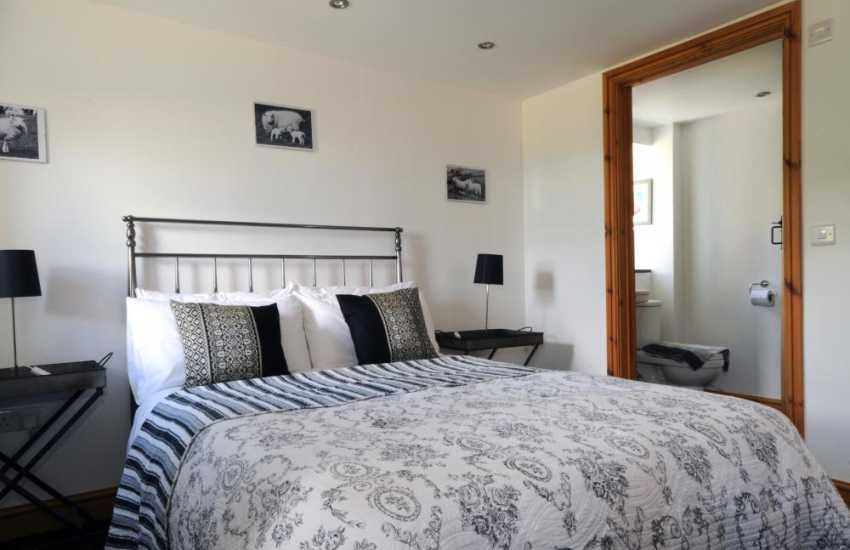 Master bedroom on ground floor with far reaching views