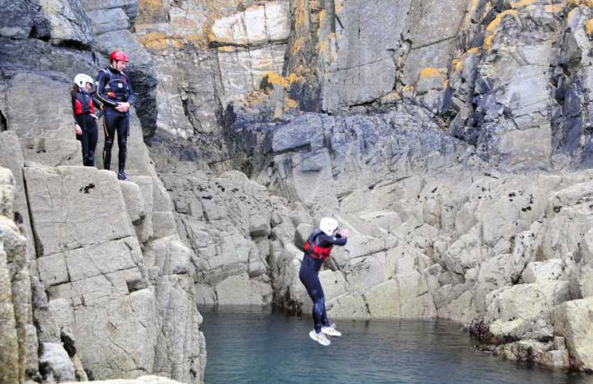 TYF St Davids offer a choice of thrilling activities - canoeing, coasteering, sailing, surfing and lots more