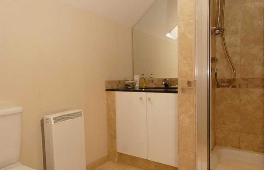 Bosherston holiday home - family shower room