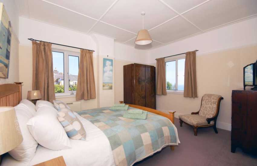 Holiday home in New Quay, Ceredigeon - double with sea views