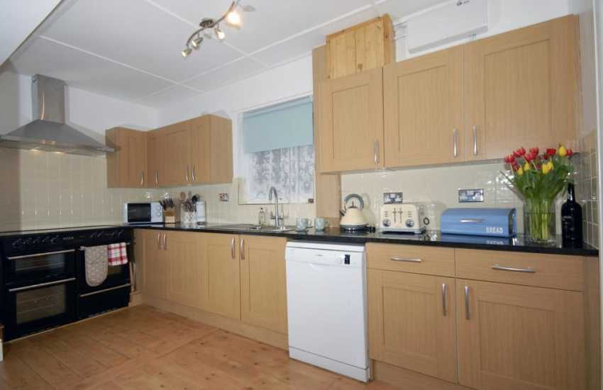 New Quay, Cardiganshire self-catering holiday house - kitchen area